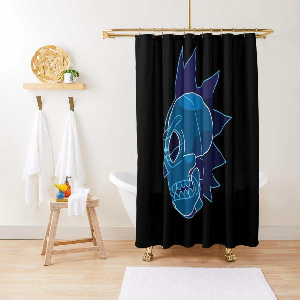 Rick Sanchez head X-Ray from Rick and Morty ™ Shower Curtain