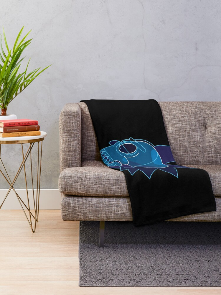 Alternate view of Rick Sanchez head X-Ray from Rick and Morty ™ Throw Blanket