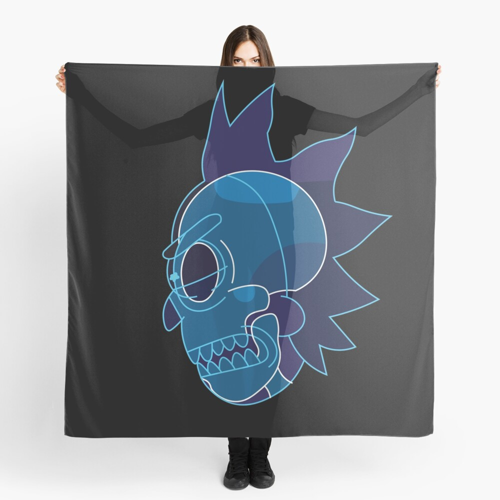 Rick Sanchez head X-Ray from Rick and Morty ™ Scarf