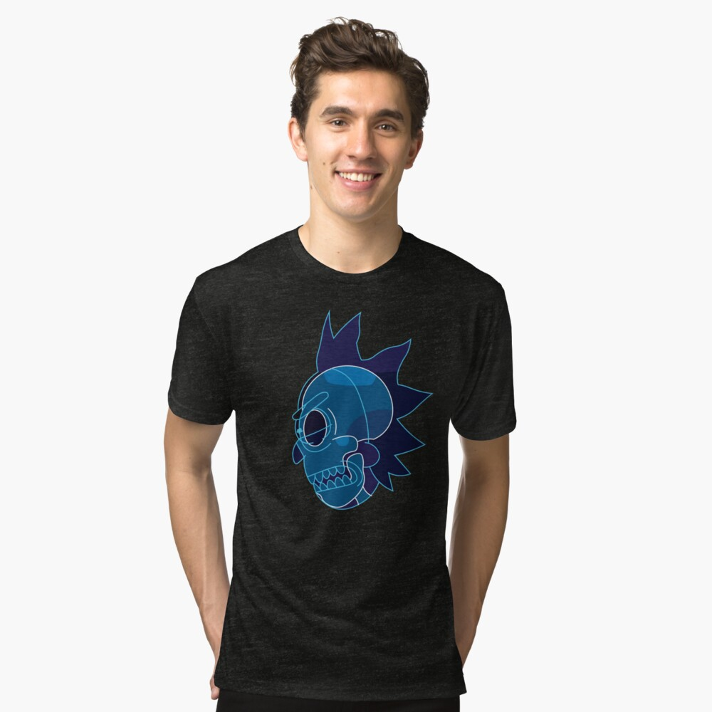 Rick Sanchez head X-Ray from Rick and Morty ™ Tri-blend T-Shirt