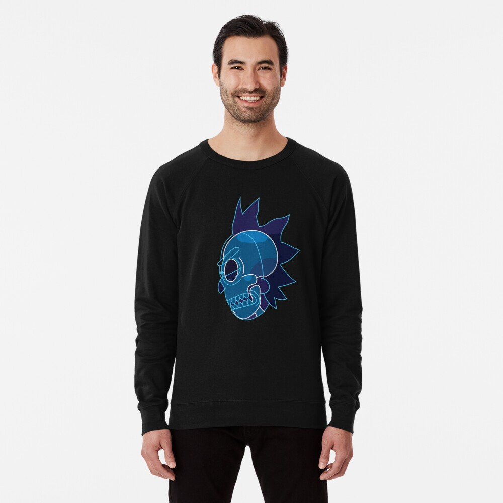 Rick Sanchez head X-Ray from Rick and Morty ™ Lightweight Sweatshirt