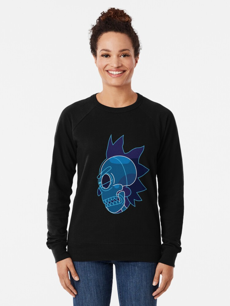 Alternate view of Rick Sanchez head X-Ray from Rick and Morty ™ Lightweight Sweatshirt