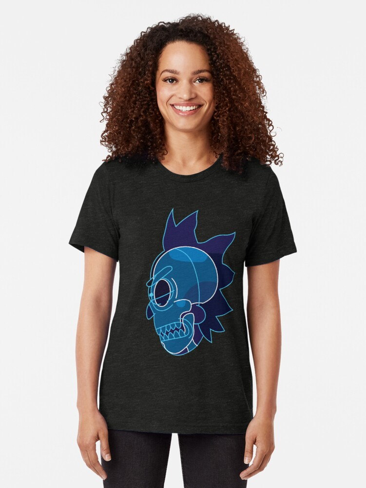 Alternate view of Rick Sanchez head X-Ray from Rick and Morty ™ Tri-blend T-Shirt