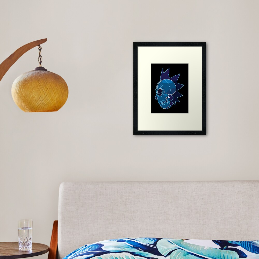 Rick Sanchez head X-Ray from Rick and Morty ™ Framed Art Print