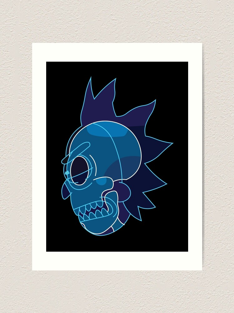 Alternate view of Rick Sanchez head X-Ray from Rick and Morty ™ Art Print