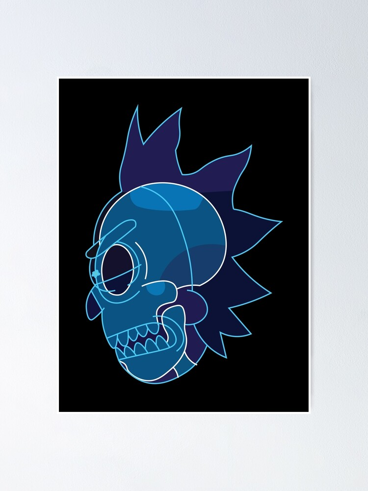 Alternate view of Rick Sanchez head X-Ray from Rick and Morty ™ Poster