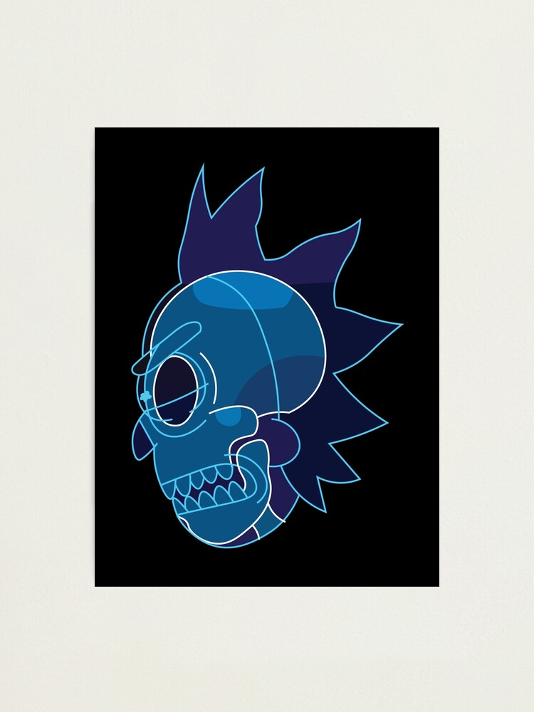 Alternate view of Rick Sanchez head X-Ray from Rick and Morty ™ Photographic Print