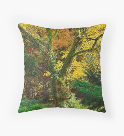 Yellow-green Throw Pillow