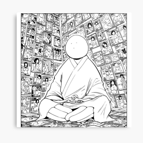 Kuro Sensei Meditation Assassination Classroom Metal Print