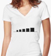 99 Steps of Progress - Minimalism Women's Fitted V-Neck T-Shirt