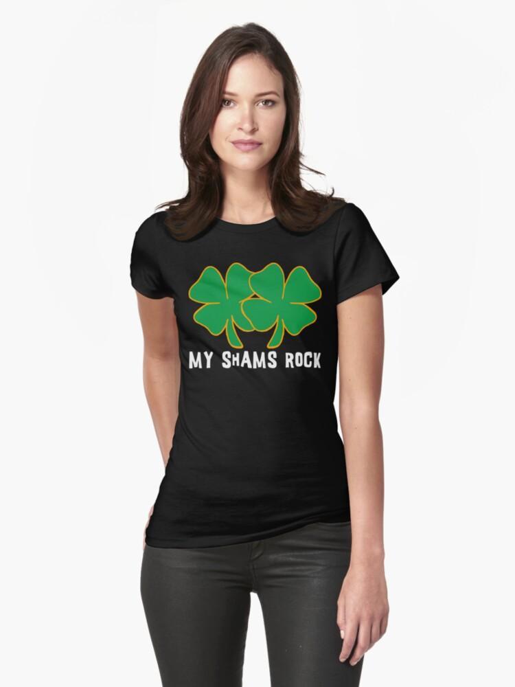 Naughty Shamrocks Women's by HolidayT-Shirts