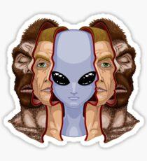 Three Faces Sticker