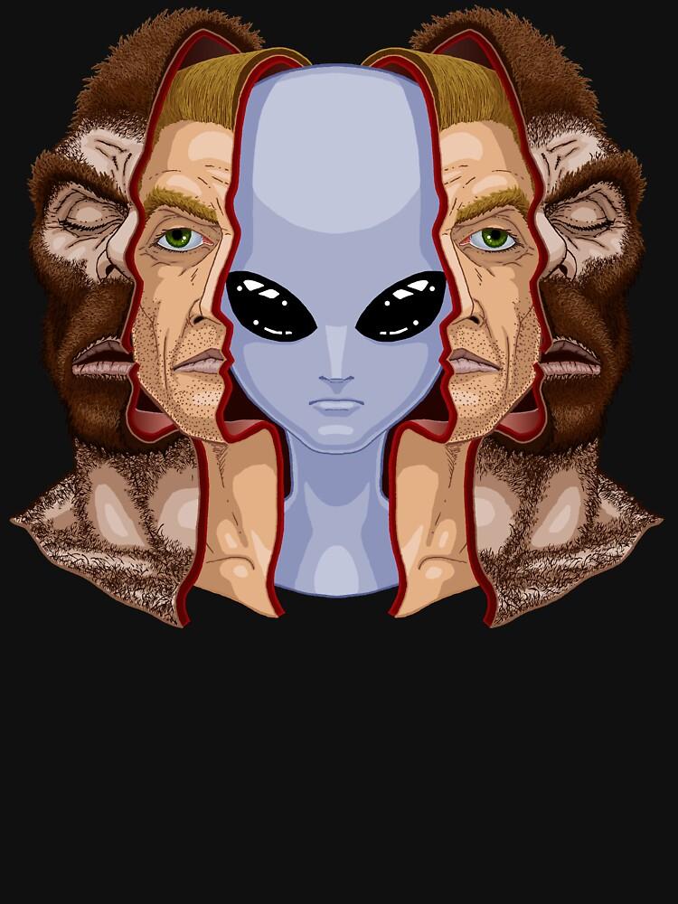 TShirtGifter presents: Three Faces | Unisex T-Shirt