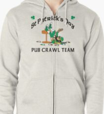 Irish Pub Crawl Team Zipped Hoodie