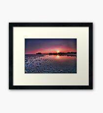Worthing pier sunset  Framed Print