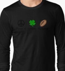 Peace Shamrock Rugby T-Shirt