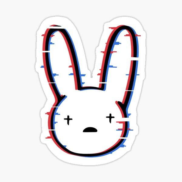 Bad Bunny Logo Glitch Sticker