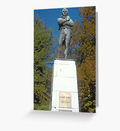 Robert Burns In Stanley Park,Vancouver Greeting Card