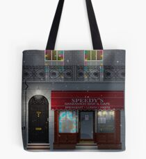 Sherlock Speedy's Cafe christmas Tote Bag