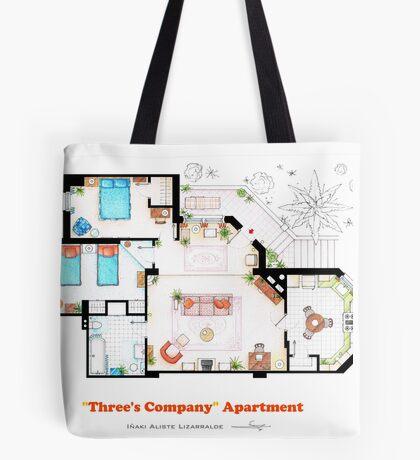 Three's Company Apartment Floorplan Tote Bag