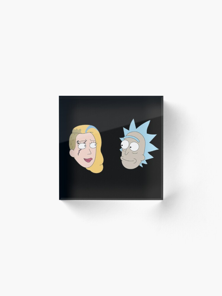 Alternate view of Rick Sanchez and Beth Smith from Rick and Morty ™ Acrylic Block