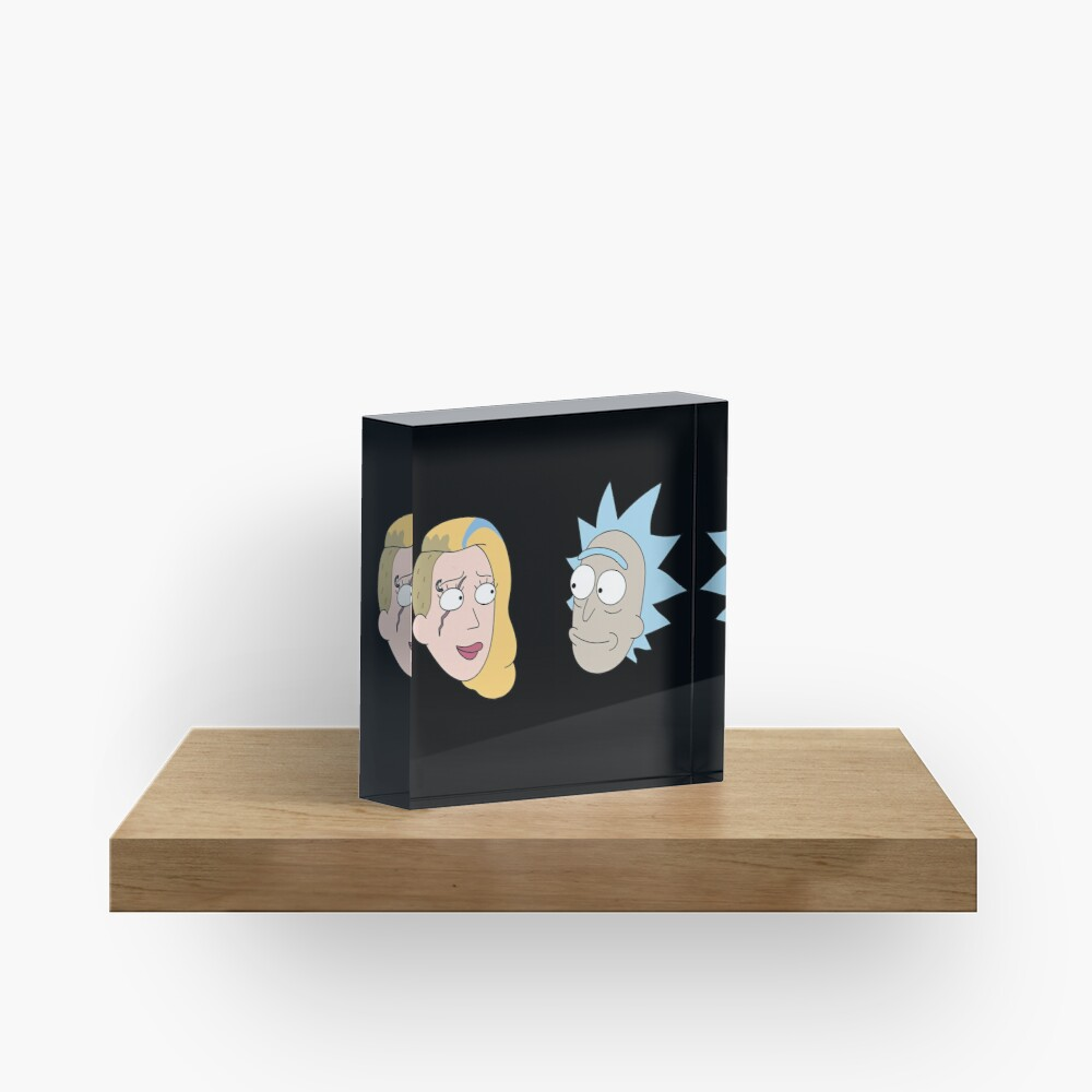 Rick Sanchez and Beth Smith from Rick and Morty ™ Acrylic Block