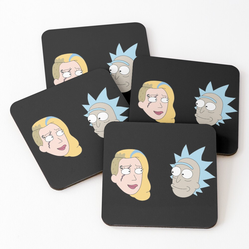 Rick Sanchez and Beth Smith from Rick and Morty ™ Coasters (Set of 4)