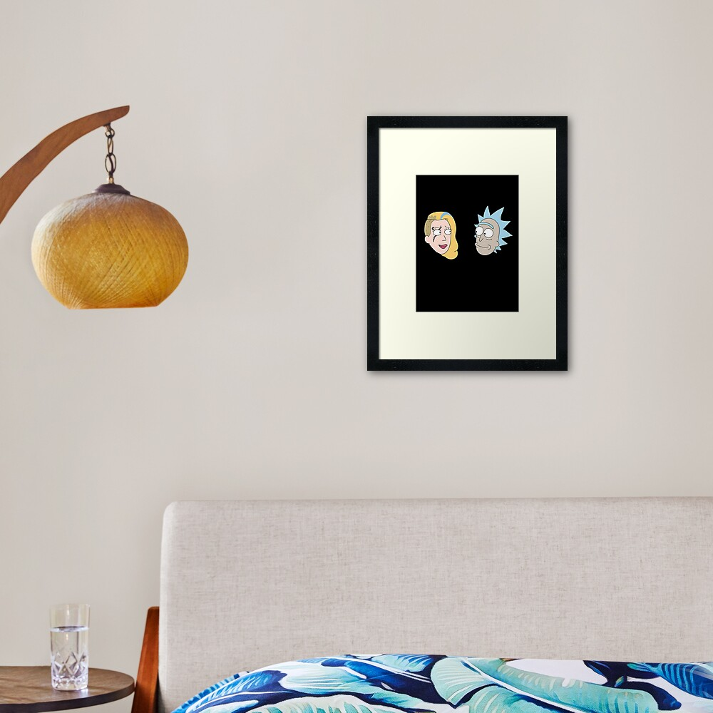 Rick Sanchez and Beth Smith from Rick and Morty ™ Framed Art Print