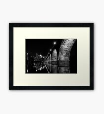 down by the river Framed Print
