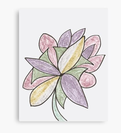 Carnivaled Flowers (a Bouquet of Pastel Colours) Canvas Print