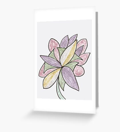 Carnivaled Flowers (a Bouquet of Pastel Colours) Greeting Card