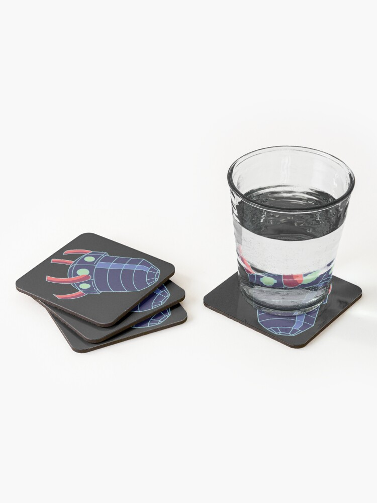 Alternate view of Rick Sanchez's Heart Metal Shield from Rick and Morty ™ Coasters (Set of 4)