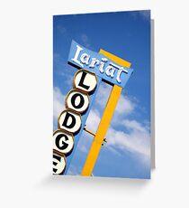Lariat Lodge Greeting Card