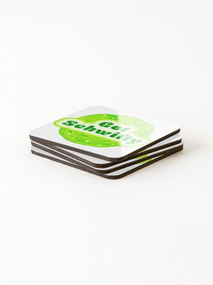 Alternate view of Get Schwifty Coasters (Set of 4)