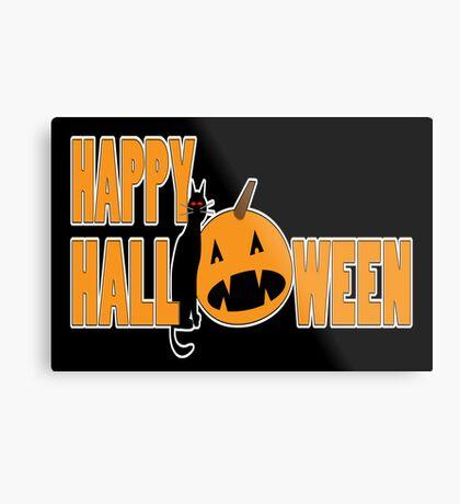 happy halloween black Metal Print