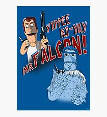 Yippee Ki-Yay, Mr Falcon! Photographic Print