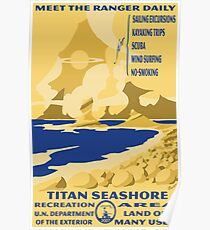 Titan Planetary Park Poster Poster