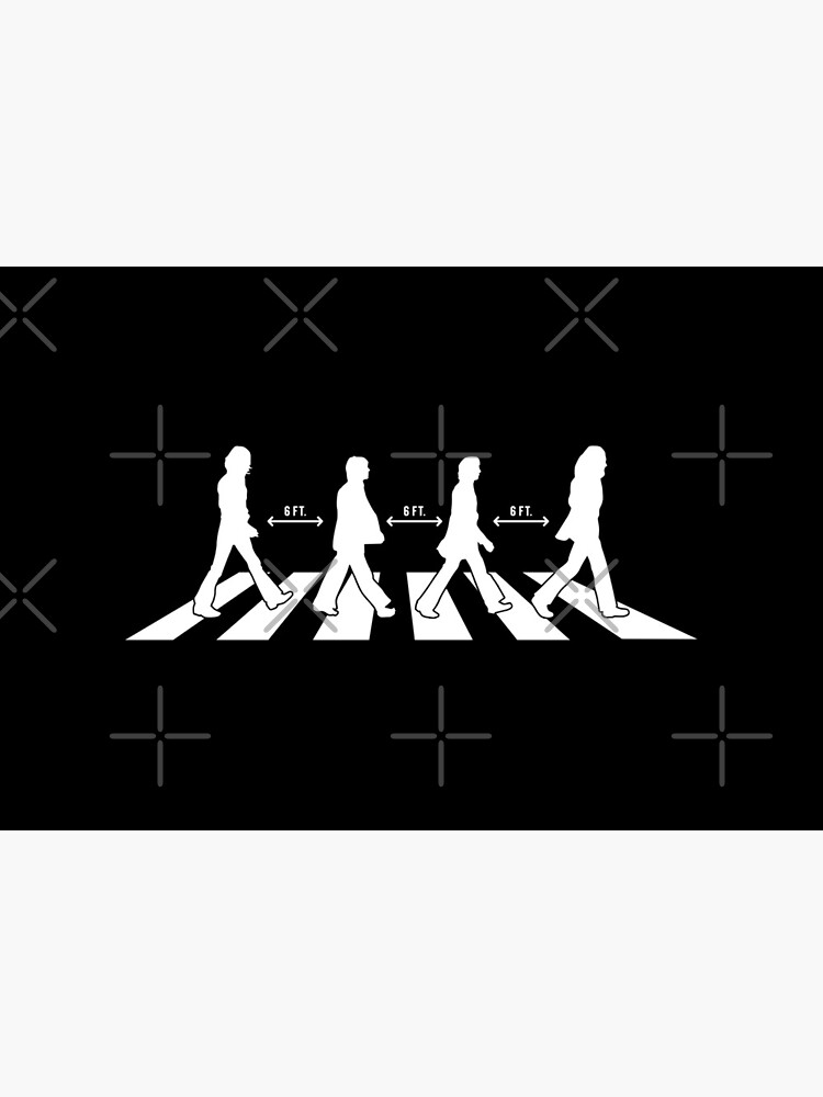Abbey Road 6 Feet Away Social Distancing by pixtown