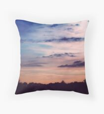 On Pastel Skies Throw Pillow