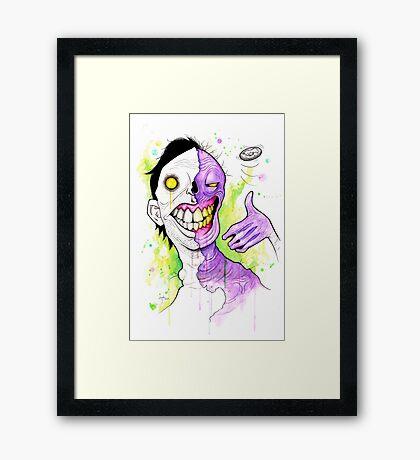 Two-Face Framed Print