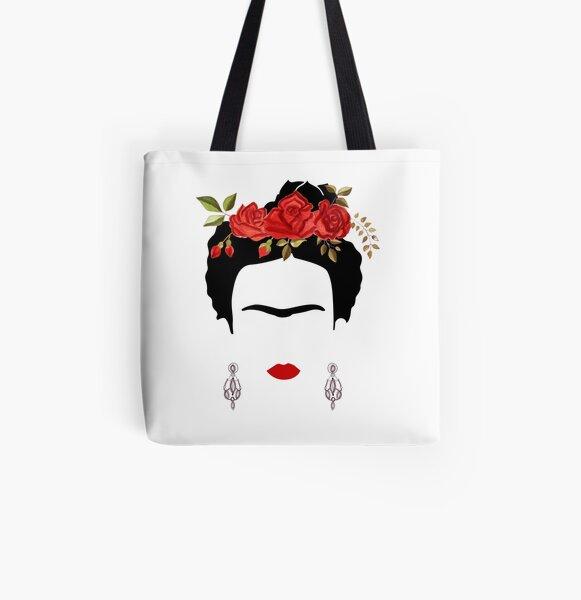 Portrait de Frida Kahlo Tote bag doublé