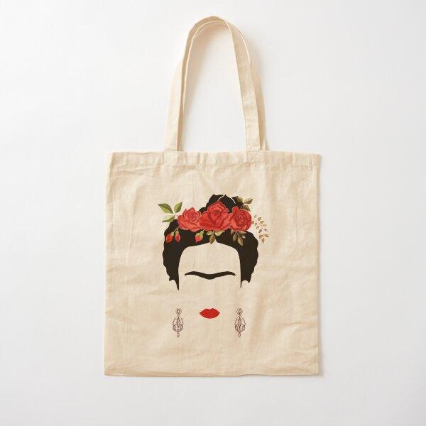 Retrato de Frida Kahlo Bolsa de algodón