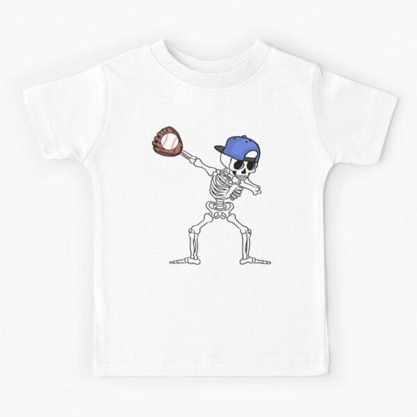 Dabbing Skeleton Baseball T shirt Halloween Boys Kids Men Skeleton Shirt Baseball Glove Baseball Shirt Skeleton Dab Kids Skeleton Shirt Dabbing Baseball Gift Baseball Player  Kids T-Shirt
