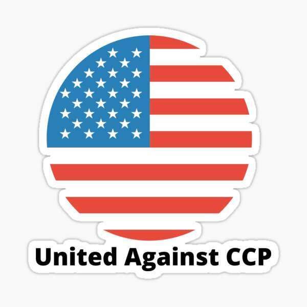 United Against the CCP Sticker