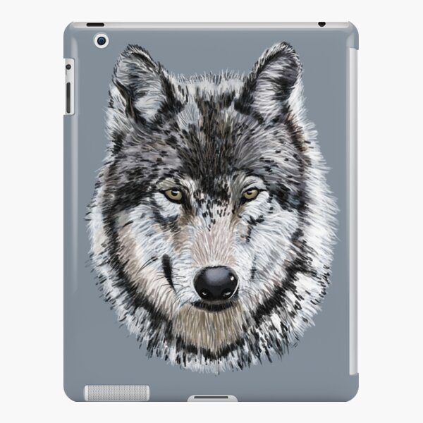 Grey Wolf iPad Snap Case