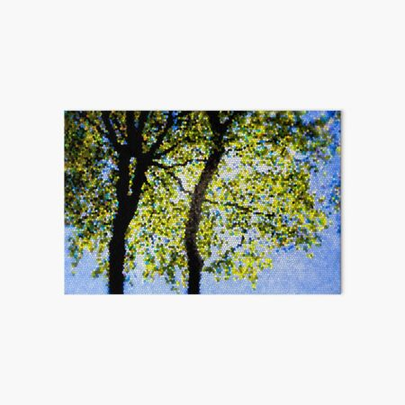 Mosaic Beech Leaves Art Board Print