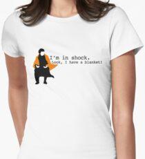 Sherlock Shock Blanket Women's Fitted T-Shirt
