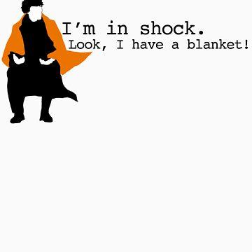 Sherlock Shock Blanket by scarfasaurus