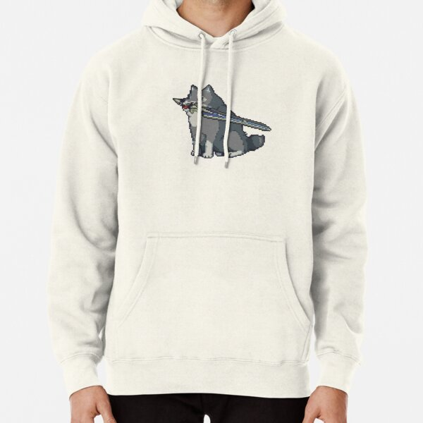 Pixel Great Grey Wolf Sif Pullover Hoodie