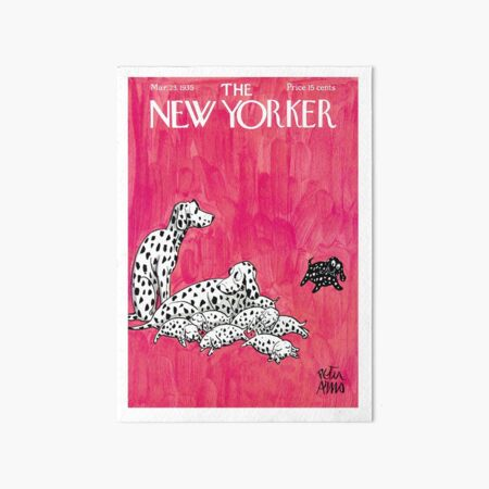 New Yorker Cover, March 1935 Artwork Reproduction for Wall Art, Prints, Posters, Tshirts, Men, Women, Kids Art Board Print